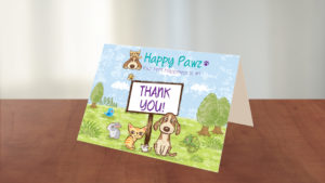 Happy Pawz Thank You Card